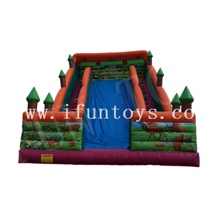 Inflatable Tropical Forest Theme Water Slide / Inflatable 18 Wahoo Water Slide / Dry Slide for Kids And Adults