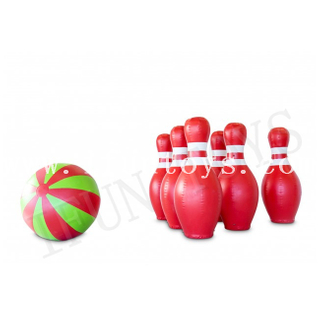 Jumbo Inflatable Bowling Set / Giant Inflatable Ball And Bowling Pin for Outdoor Sport Challenge Game