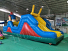 Outdoor Inflatable Football Player Theme Obstacle Course Equipment for Adults and Kids