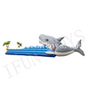 2 Lanes Inflatable Shark Bungee Run Race Challenge Game