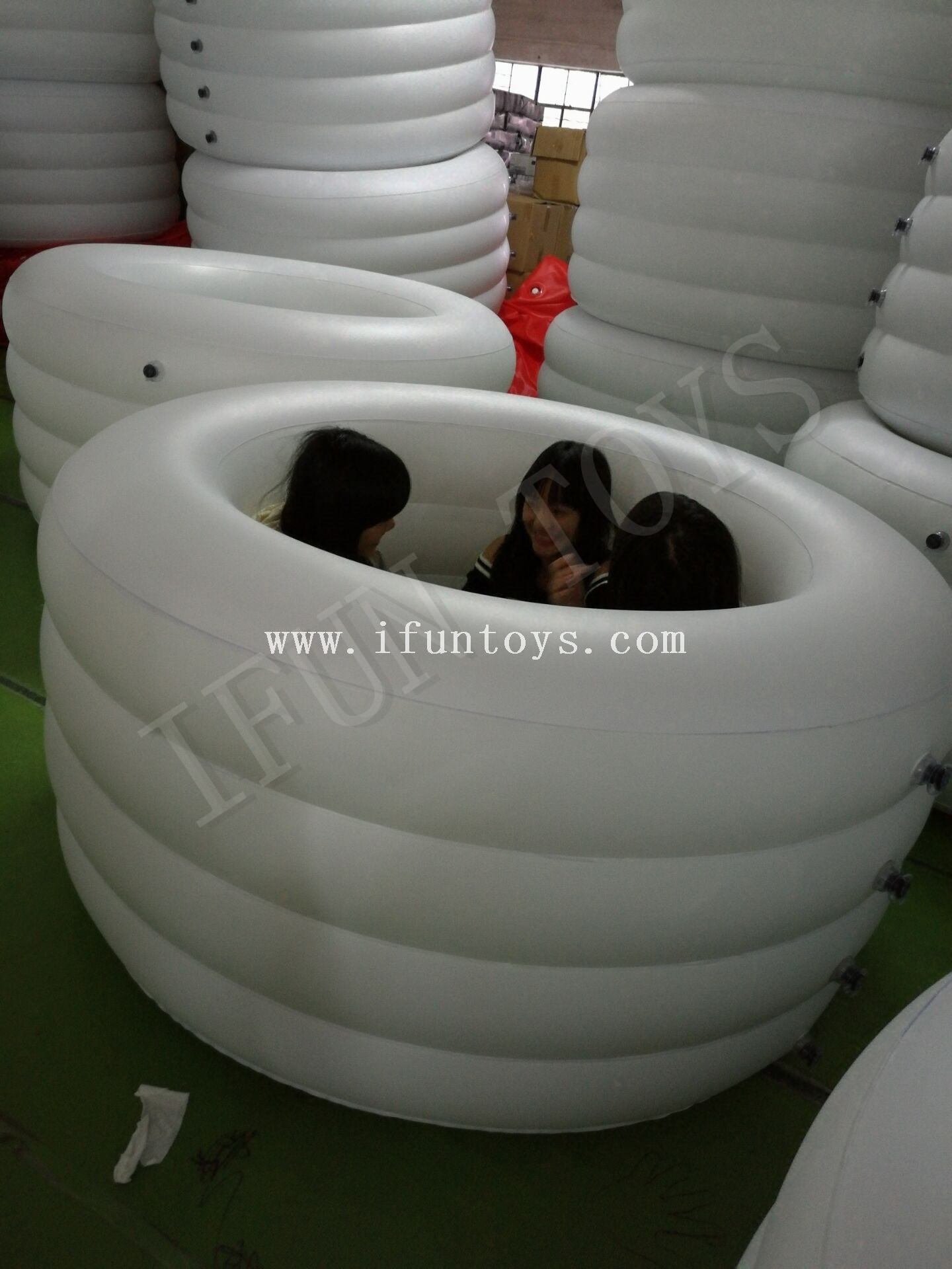 PVC Inflatable Recovery Bathtub / Round Inflatable Team Ice Bath with Air Pump