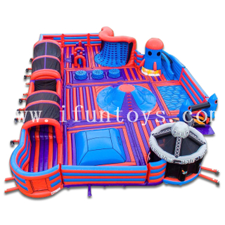 Inflatable Theme Park for Adults / Inflatable Indoor Outdoor Trampoline Park Amusement Park