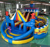 Commercial inflatable animal theme amusement park /inflatable Circus world playground/ big party fun city for kids