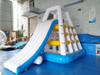 Inflatable water slide floating water park Jungle Joe inflatable climbing aqua slide for adults