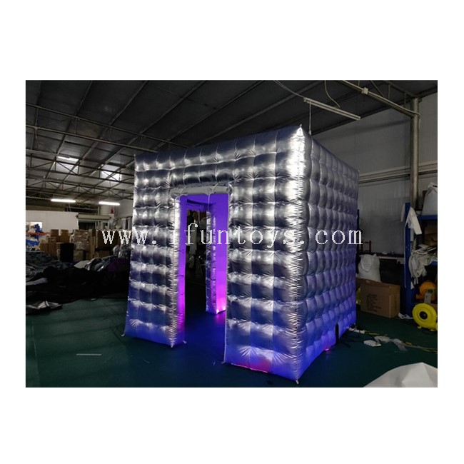 16 Kinds Color LED Lighting Changing Inflatable Photo Booth with 2doors for Party/ Wedding /Event