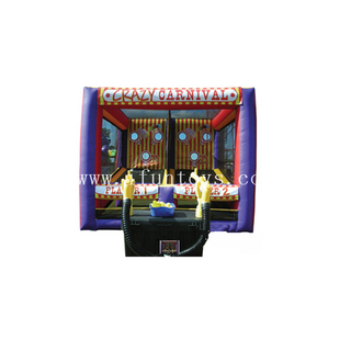 Crazy Carnival Shootout Inflatable Cannon Ball Air Blaster Shooting Game for sale