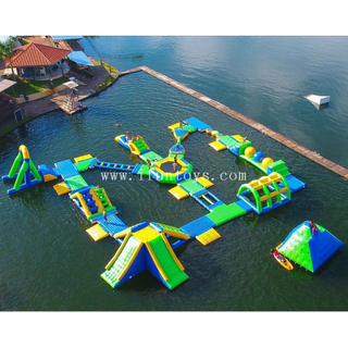 0.9mm pvc tarpaulin Lake inflatable aquapark water floating park obstacle courses games for adults