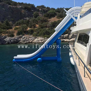 Free fall Inflatable boat dock slide / superyacht water toys / inflatable yacht toys for a horizon 88 foot E88 yacht