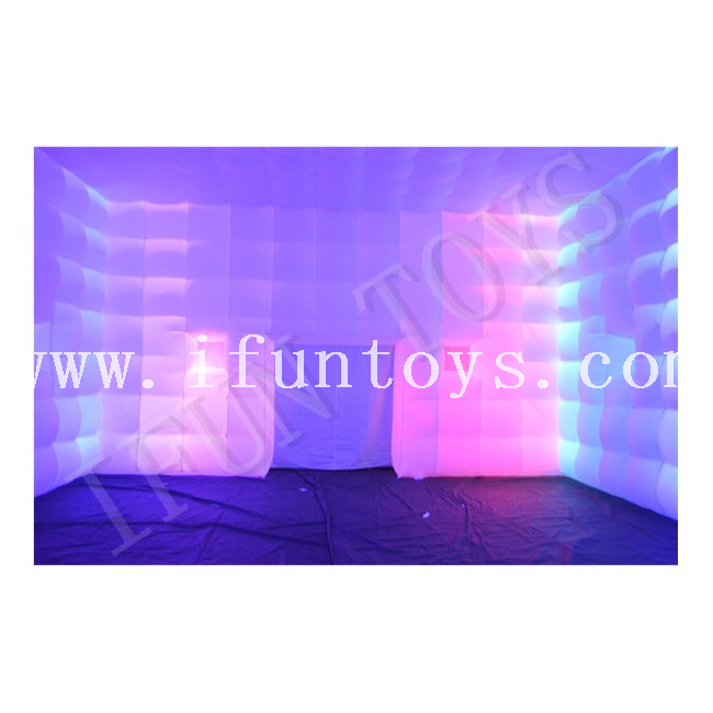 Inflatable Cube Party Tent / Event Tent / Marquee Cube Tent with LED Lighting