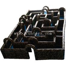 High quality camouflage inflatable water tag maze Nerf War maze inflatable playground for kids