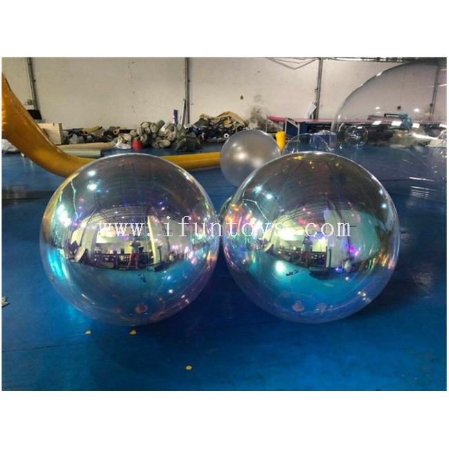 Fantasy Giant Inflatable Mirror Balloon /Light Reflective Mirror Ball /Hanging Mirror Sphere for Event/Christmas/Party/Wedding