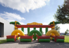 Popular Inflatable Derby Race Track /inflatable Fun Derby Hip Hop jumping Horse Races for kids sport game