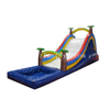 Tropical Theme Inflatable Water Slide with Swimming Pool / Inflatable Pool Slide with Climbing Wall for Sale