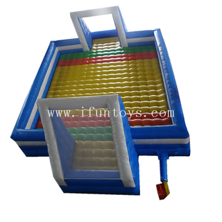 Factory inflatable soccer court / football pitch / volleyball yard with mattress for sale