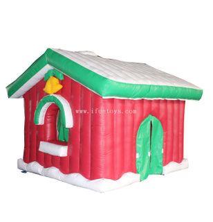 Kids inflatable Santa house/inflatable Christmas decorative house/ Christmas Inflatable Cabin for sale