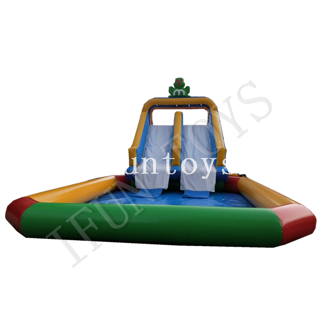 Summer Toys Inflatable Water Slide with Swimming Pool / Water Slide Park for Kids And Adults