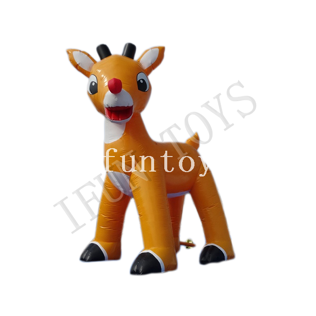 Giant Inflatable Christmas Deer for Garden Decoration