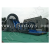 Inflatable Roaring River Water Slide with Pool / 2 Lanes Run N Splash Combo Inflatable Water Slide with Pool for Adults