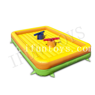 Interactive Inflatable Gladiator game Fighting Arena / Inflatable Jousting Platform