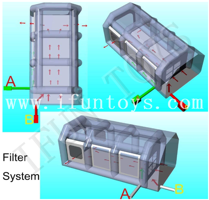 Cheap Inflatable Spray Booth / Portable Paint Booth / Spray Paint Booth with Filter System for Car Maintaining