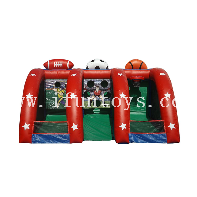 Interactive inflatable basketball game/inflatable basketball shoot hoop/Inflatable Soccer Goal Game for kid and adults
