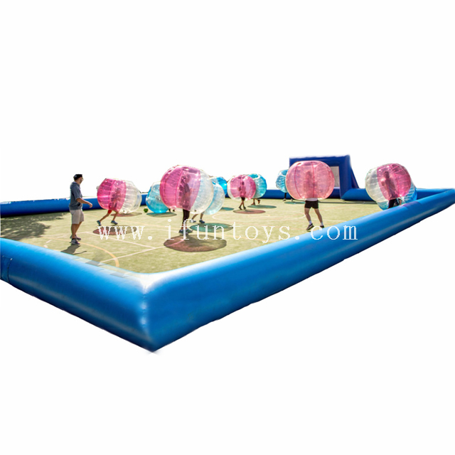 Wholesale portable large inflatable zorb soccer arena / soccer sports field for bubble balls