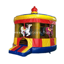 Inflatable Carousel Bouncy Castle / Carousel Inflatable Moonwalk /Inflatable Jumping Castle for Kids Birthday Party