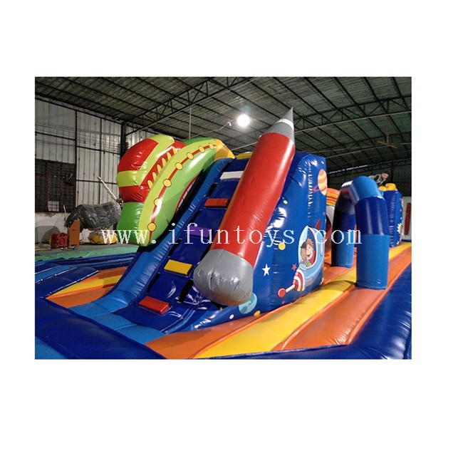 Inflatable Wipeout Big Baller Obstacle Game / Interactive Inflatable Bounds Leaps Sport Challenge Game for Kids And Adults