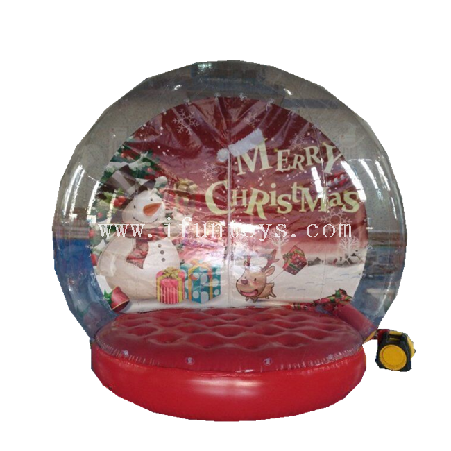 Outdoor inflatable snow globe photo Tent/Christmas Snow Globe Bubble Inflatable Tent/Inflatable human snow globe for sale