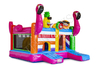 Inflatable Flamingo Bouncer Combo / Outdoor Inflatable Bouncing Castle / Jumping House with Slide for Kids