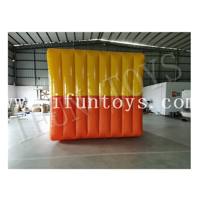 Team Building Human Walking Inside Inflatable Flip It Land Rolling Cube