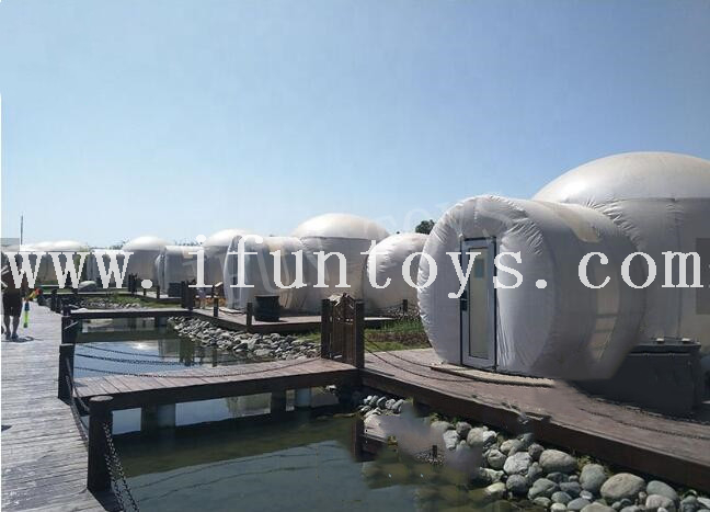 Outdoor Inflatable Bubble Tent / Inflatable Lodge Bubble Hotel / Inflatable Lawn Tent for Camping