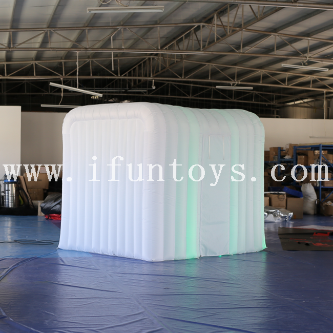 New portable led lighting inflatable photobooth tent/Inflatable Photo Booth Enclosure/photo booth backdrop for wedding&party