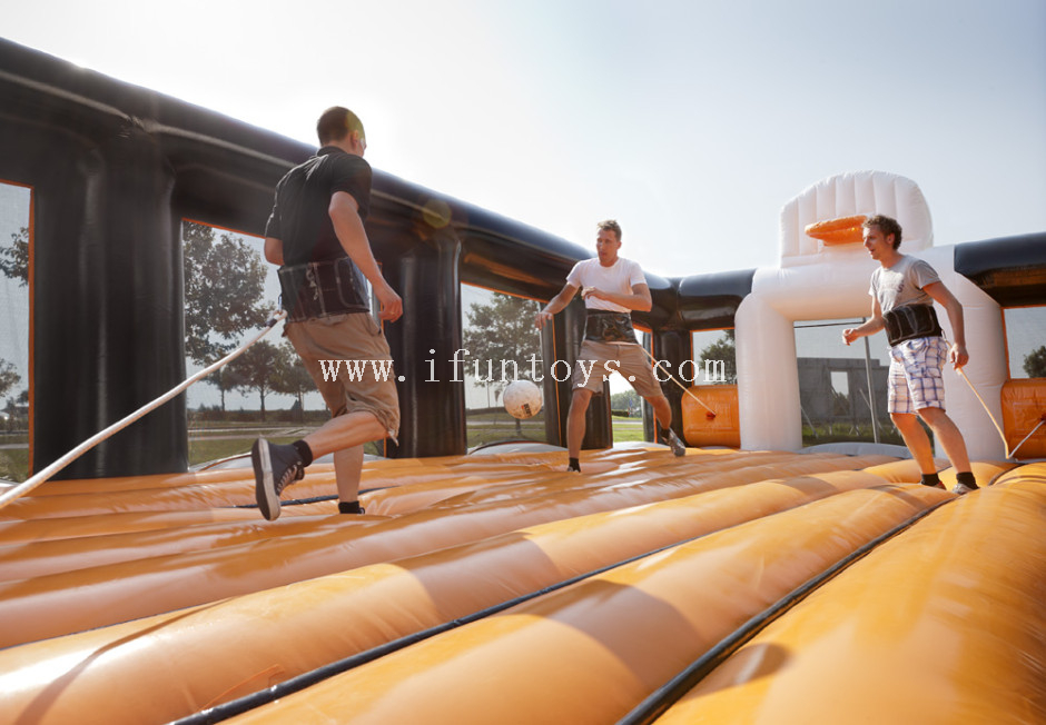 Giant Inflatable soccer basketball sports arena/ outdoor basketball court/ inflatable sport game field for sale