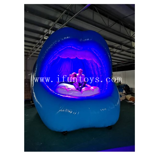 Inflatable Led Lighting Decoration Giant Lip sofa /big Mouth Model for Outdoor Advertising
