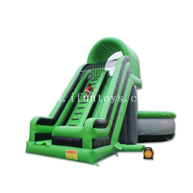 Giant Free Fall Inflatable Slide with Big Jump Bag / Inflatable Cliff Jump with Air Bag for Adults