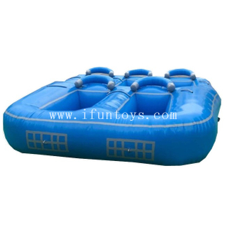 Inflatable Towable Water Boat/ Inflatable Donut Boat Ride for 5persons / Inflatable Fly Tube for Water Sport Games