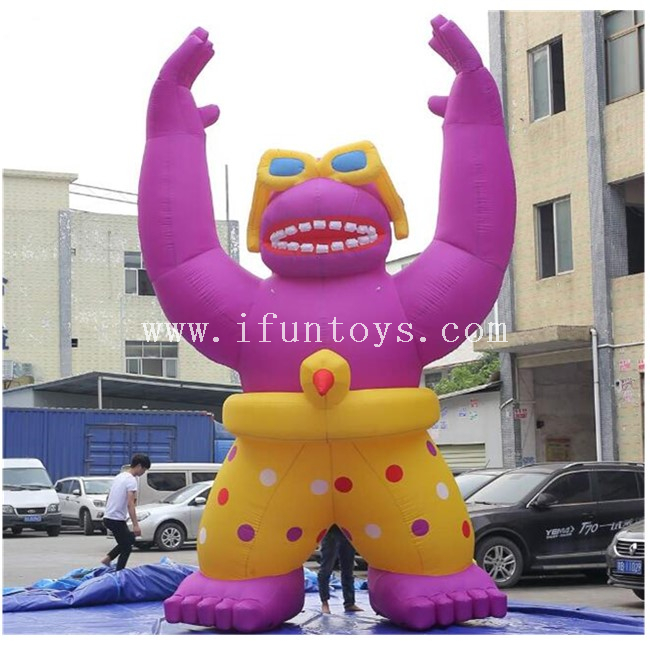 6m Tall Inflatable Gorilla / Giant Inflatable Gorilla Cartoon for Promotion / Inflatable Advertising Gorilla Model with AIr Blower