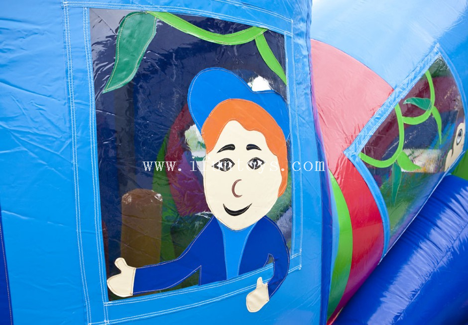 Outdoor commercial inflatable tunnel/Inflatable train obstacles courses/inflatable caterpillar tunnel train for kids