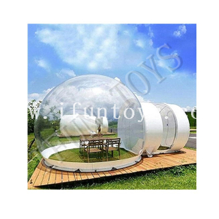 Outdoor Inflatable Transparent Bubble Camping Tent / Igloo Bubble House