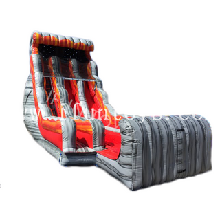 Inflatable Volcano Rush Slide with Stopper / Dual Laned Water Slide for Sale
