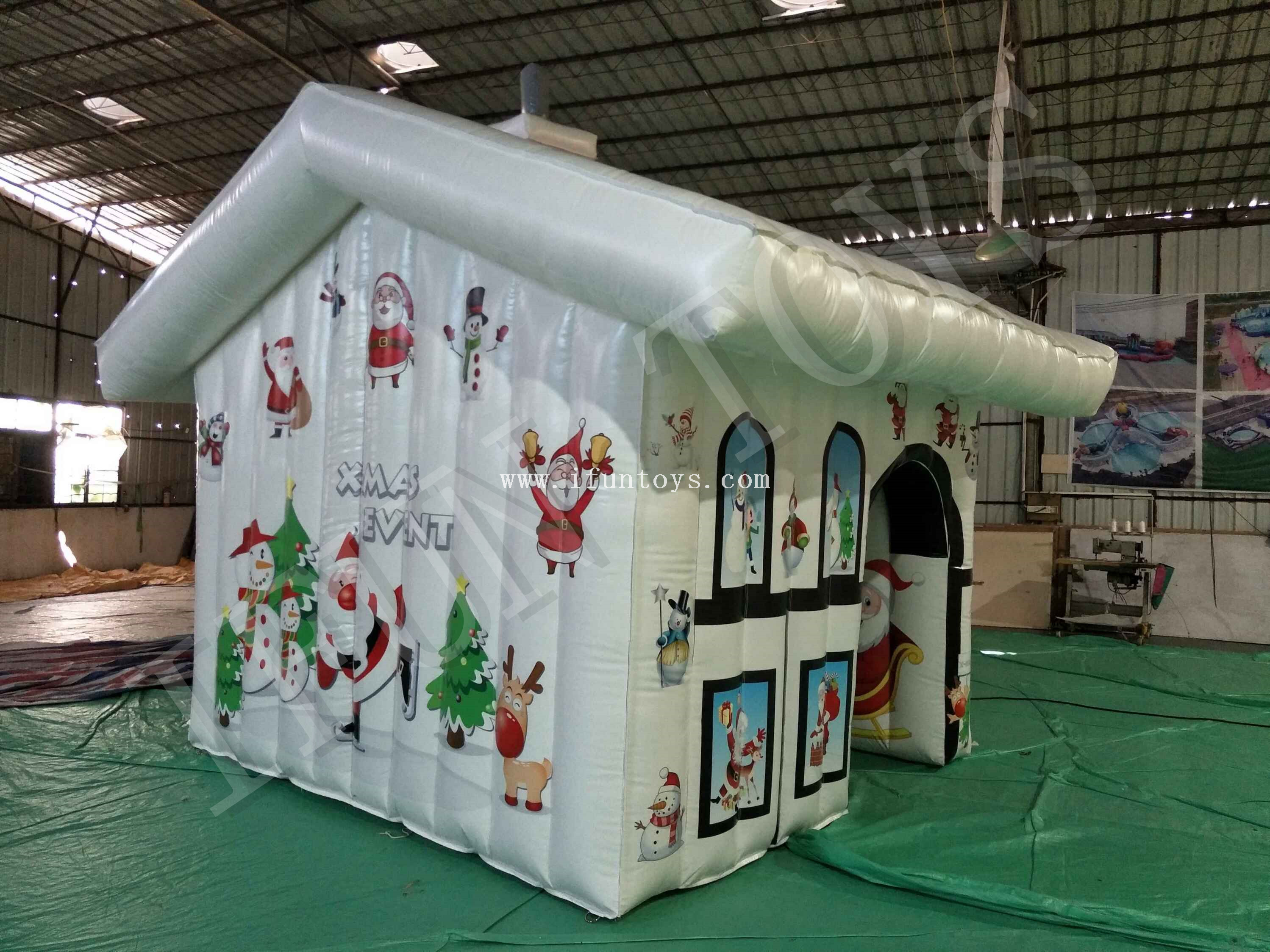 Xmas Inflatable Santa's Grotto / Inflatable Christmas House / Santa House Tent for Sale