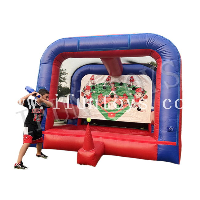 Interactive Inflatable Baseball Game / Tee Ball Sport Game for Event