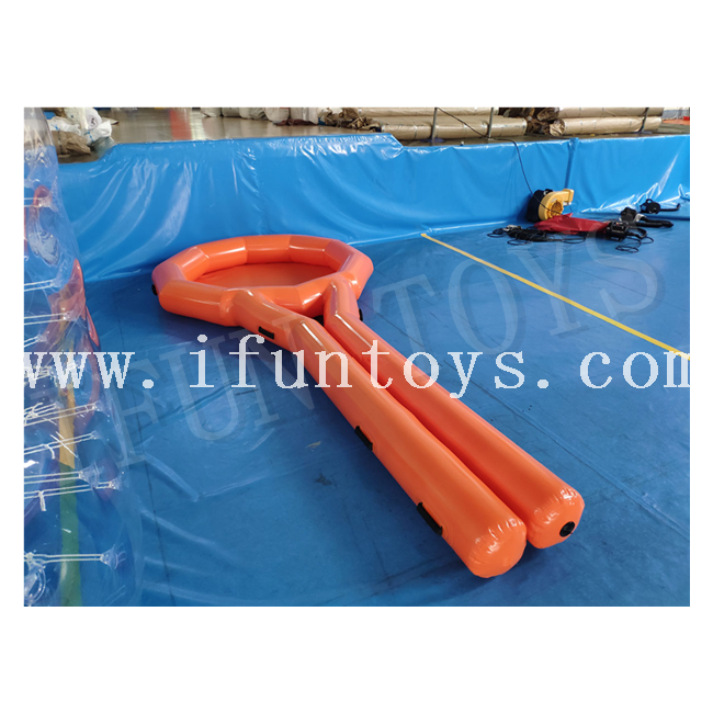 Interactive Team Cooperation Large Inflatable Tennis Racket Running Game / Inflatable Team Building Game