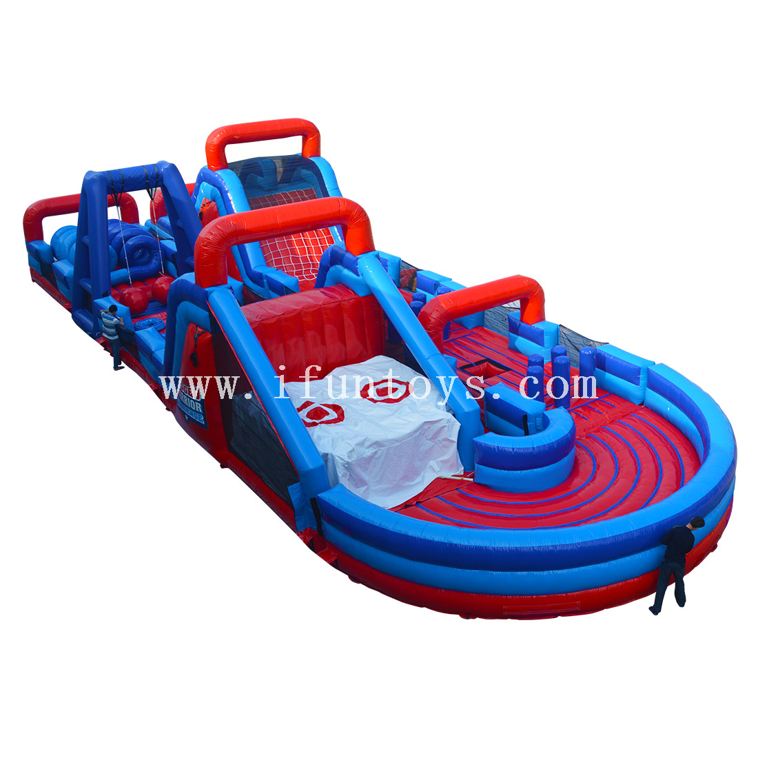 Inflatable Rugged Warrior Obstacle/inflatable Challenge Mega Obstacle Course /inflatable wipeout course For sport game