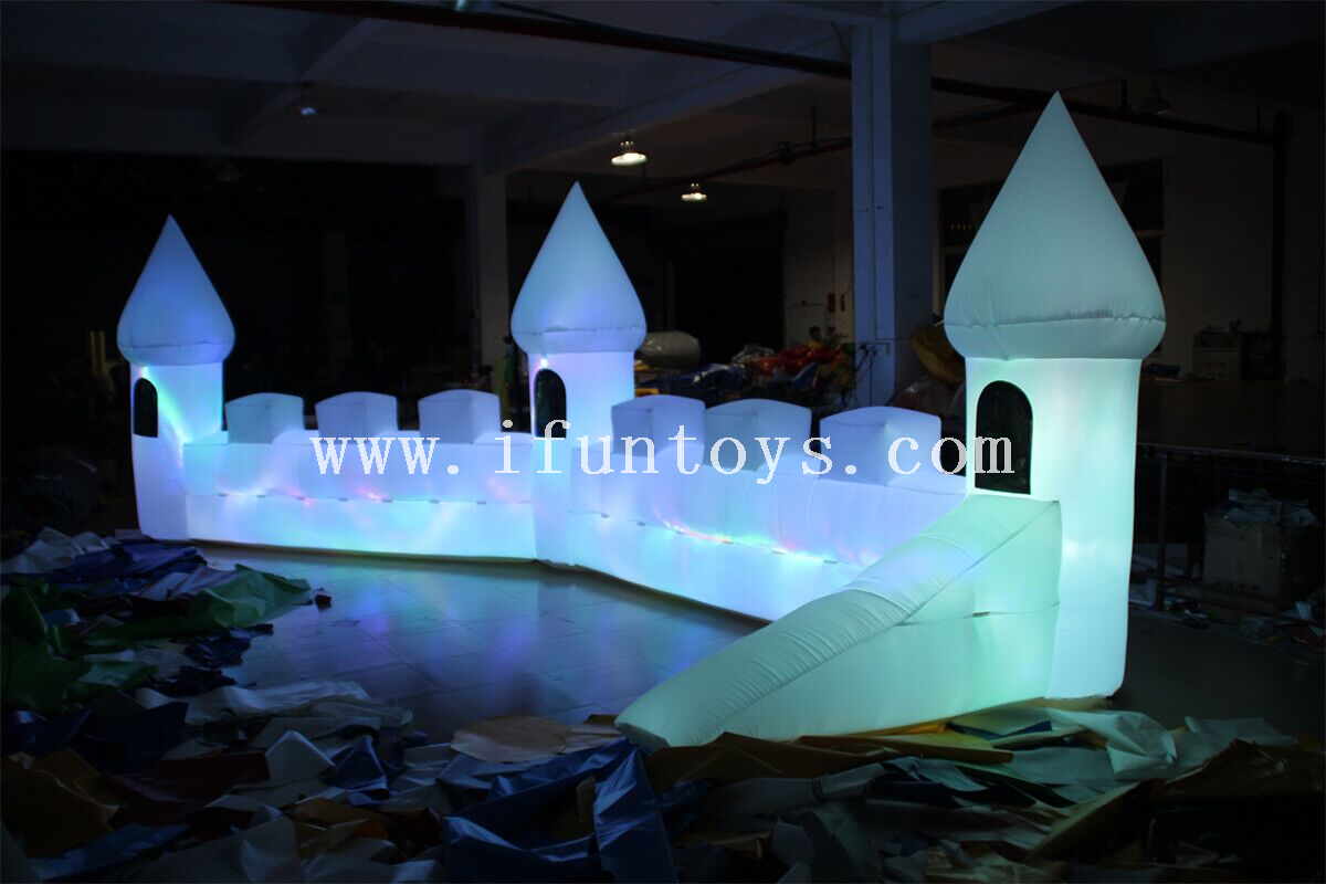 inflatable stage props decoration/ inflatable LED lighting castle for party&event decoration