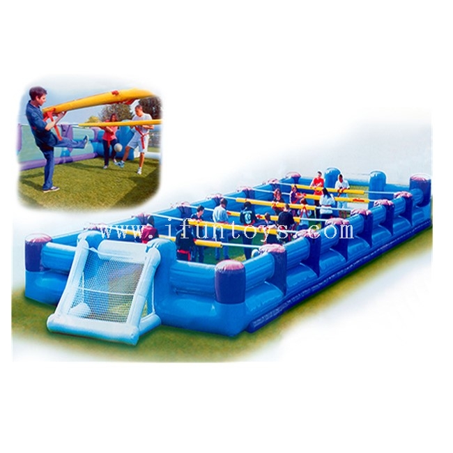 Outdoor Inflatable Human Table Foosball Court / Inflatable Football Playground Arena / Inflatable Table Soccer Field for Sale