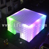 Giant outdoor LED lighting inflatable cube wedding party tent for event