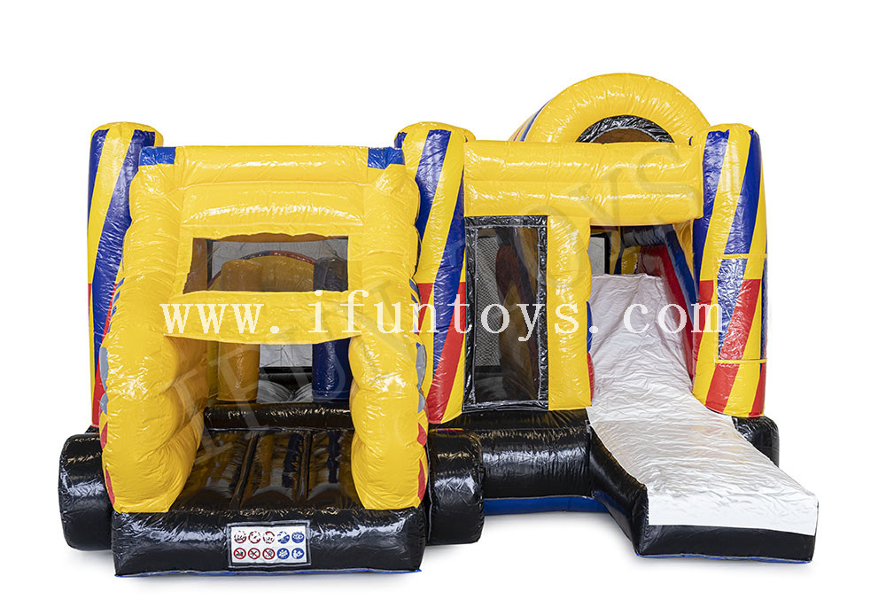 Ambulance Theme Inflatable Bouncy House Combo with Slide