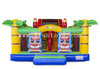 Hawaii Theme Inflatable Bouncer Slide / Jumping Castle with Slide / Kids Fun City for Amusement Park
